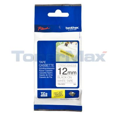 BROTHER TZ TAPE BLACK ON WHITE 12 MM X 8 M